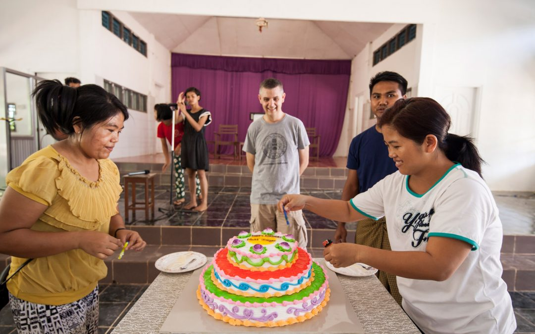 Matt's birthday in Myanmar!